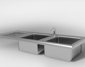 Kitchen sink and tap 3D model