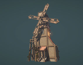 Windmill with Interior 3D asset