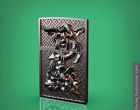 Zippo lighter decorative trim slavic 3D printable model 3