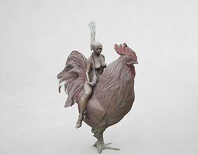 chicken woman 3D
