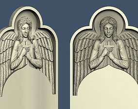 3d STL model for CNC An angel in a niche