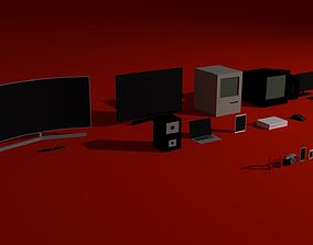 3D asset Low-poly Electronics Pack