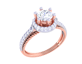 Solatire Rings disjunct 3D printable model