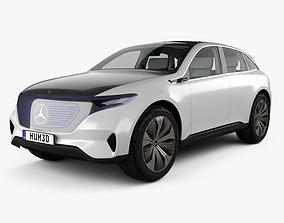 3D Mercedes-Benz EQ concept with HQ interior 2017