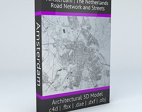 3D model Amsterdam Road Network and Streets