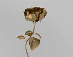 Golden Rose animation 3D