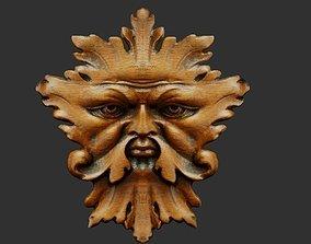 Leaf mask 3D model