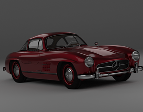 rigged realtime Mercedes Benz 300SL 3D model
