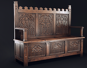 Gothic Bench 3D model