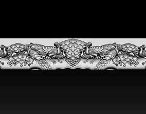 Wooden Peacock Wall Art - Asian Oriental 3D print model