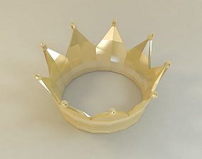 crown low poly style 3D asset