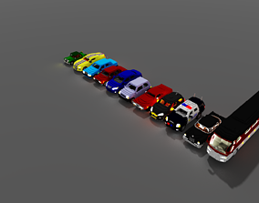 VOXEL CARS PACK-1 3D model game-ready