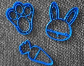 3D printable model Rabbit Carrot Footprint Cookie Cutter