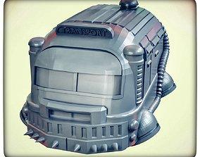 Armoured hover bus 3D printable model