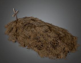 Cemetery Grave 2 CEM - PBR Game Ready 3D model