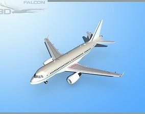 rigged Falcon3D A319 Corporate 1