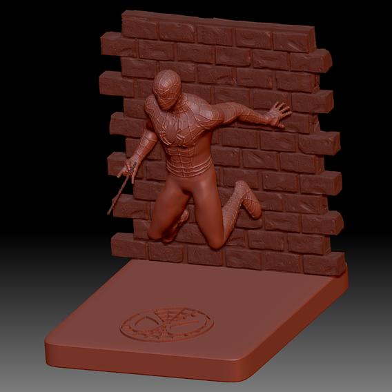 Spiderman Statue