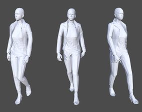 Low Poly Female 10 - Animated 3D asset