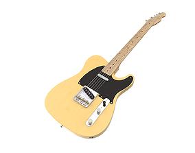 3D model Fender guitar