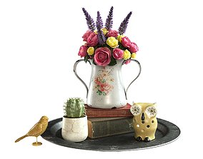 3D Still life with a bouquet of flowers