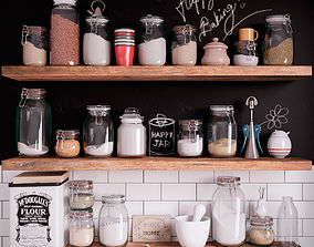 Kitchen Set cereal 3D model