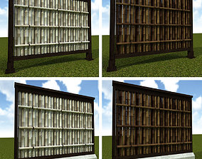 Bamboo Fence 3D model