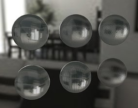 3D Pack of 6 glass textures for shower stalls