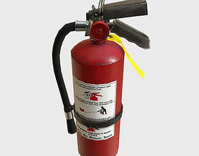 Low Poly PBR Game Ready Fire Extinguisher 3D model