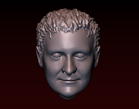 3D print model Male head 24 a man with a stylish haircut