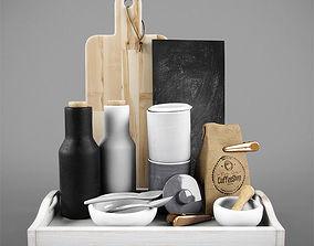 Kitchen decorative coffee tea set 3D