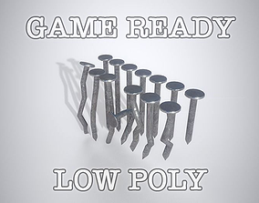Nails low-poly game ready 3D model