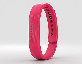 3D model Fitbit Flex 2 Magenta