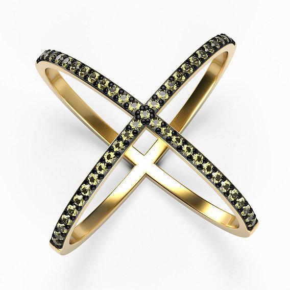 Criss-cross ring photorealistic visualization