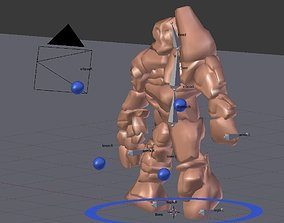 3D asset Rock Monster