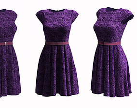 3D Cocktail dress Frock design lace frock design rigged