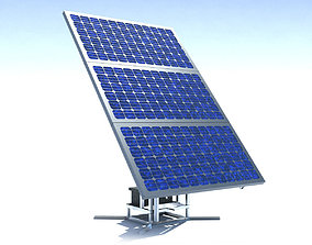 Single Stand Solar Panel RIGED 3D model