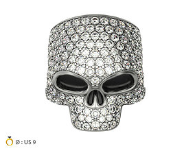 3D print model N216 Skull ring