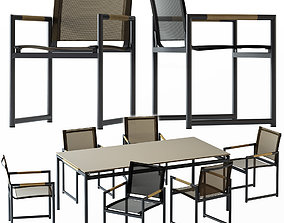 3D HARBOUR BREEZE DINING CHAIR AND TABLE
