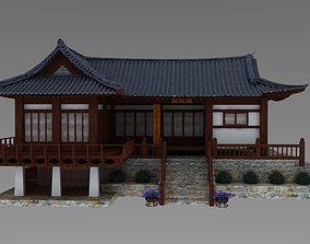 Hanok korean style house 3D model building