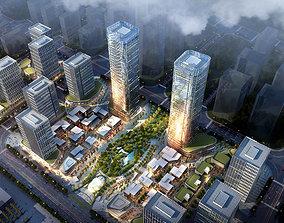 3D model Skyscraper business center 031