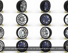 3D model ORTAS CAR WHEEL RIM 116-117-118-119-120 GAME 1