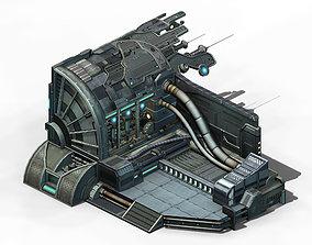 3D model Spaceship - interior wall 05