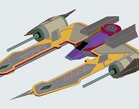 Spacecraft hunter space ship 3D asset