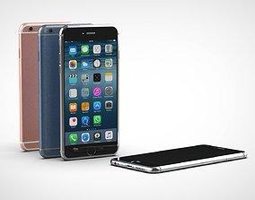 3D asset low-poly Iphone 6s