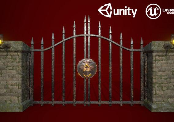 Medieval Garden Door