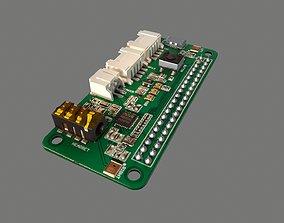 3D asset Respeaker Raspberry Pi Hat Circuit Board