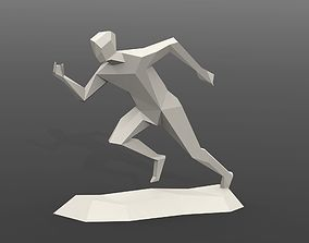 Running man statue 3D printable model