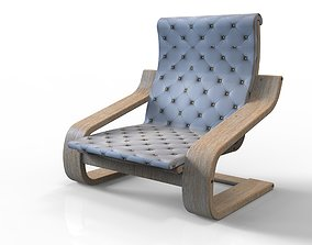 Simple Lounge Chair 3D model