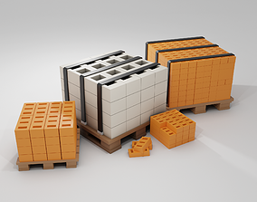 3D asset Industry Low-poly props pack model