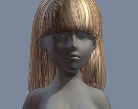3D asset beauty hair 18